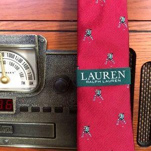 Ralph Lauren NK Holiday Red Tie